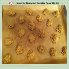 Papier brun de parchemin de cuisson non-bâton de silicone de catégorie comestible pour la boulangerie