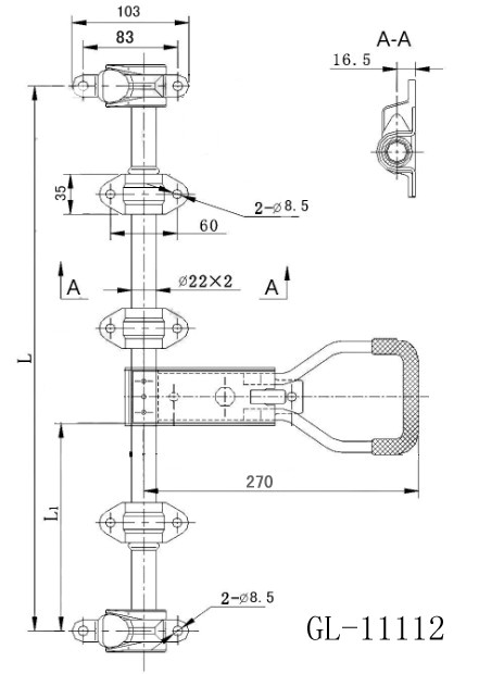 Container Locking Pin Container Locking Twist