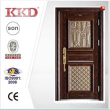 2015 New Design High Quality Steel Door KKD-911 With Aluminum Finish For Main Door Design