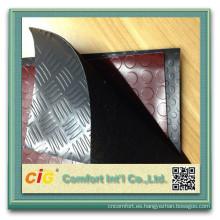 Suelos de pvc PVC suelo rodillo tapizado plástico acero moneda diseño de coches