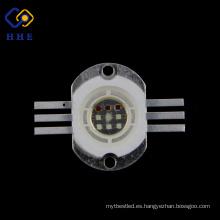 de alta potencia 10W RGB led con forma cuadrada de chips led