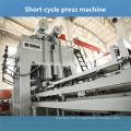 Doppelseitige Laminiermaschine Melamin-Oberflächenpanel-Herstellung Prägepresse Macine