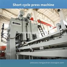 Double side laminating machine Melamine surface panel making line Embossing press macine