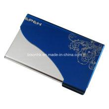 Blauer Visitenkartenhalter, Metall Visitenkartenhalter