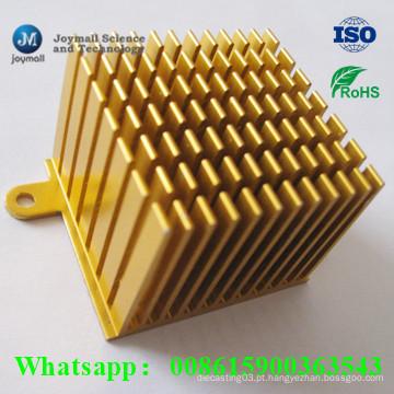 Alumínio personalizado Die Casting Pin Heatsink para CPU Electronic Equipment