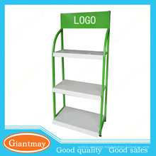 4s car store heavy duty metal corrugated display stand for car cares