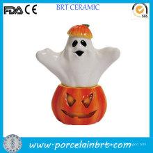 Halloween Pumpkin and Ghost Salt Shaker