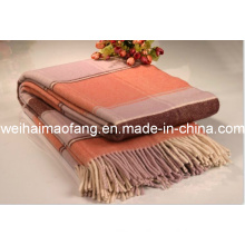 Woven Woolen Soft Wool Throw (NMQ-WT046)