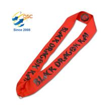 Corde en nylon de cou de support de carte d'identification de logo fait sur commande de mode d'impression
