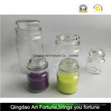 Yankee Style Glass Jar with Flat Glass Lids