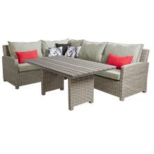 Korbwaren Rattan Schnitt Lounge Sofa Set Outdoor-Gartenmöbel