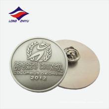 Абстрактный логотип пшеницы круглой формы металла лацкане значок