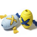 Non-toxic Interactive Pet Puppy Toy Rugby