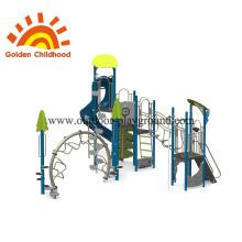 Equipo de juegos al aire libre azul para niños