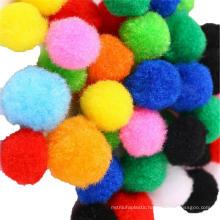 Factory direct sale 1cm-3cm DIY Handcraft Polyester Pompoms For Kids