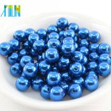 Environmental plastic lose Perle könnte gerade Loch großen Großhandel alle Arten von runden abs Perle Perlen anpassen