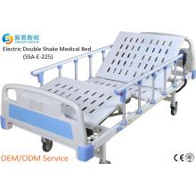 China Supply Hospital Furniture Electric 2-Crank Shake Medical Bed