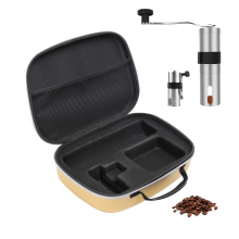 Factory High Quality Travel Foam Case For Protect the Coffee Grinder, Brushed Stainless Steel Coffee Bean Grinder