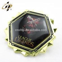 Wholesale cheap zinc alloy soft enamel metal lapel pin with diamante
