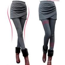 Мода женщин высокая Талия узкие Леггинсы слоистых (SR8226)