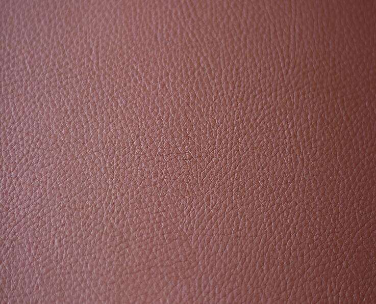 Red color car interior seat PVC leather