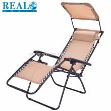 Cadeira de dobradura flexível para a cadeira de sala de estar exterior da praia da cadeira de dobradura do exército com dossel