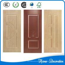 Nuevos diseños de pieles de puerta moldeadas en melamina hdf.