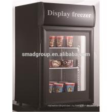 - 18 градусов Celsuis стеклянная дверь морозильник для мороженого