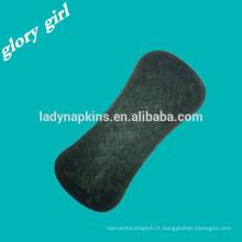 doublure noire de panty respirant les serviettes hygiéniques de coton imperméables respirantes de nuit pour des femmes