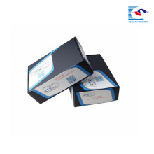 logo en gros personnalisé imprimé boîtes d'expédition en carton ondulé noir