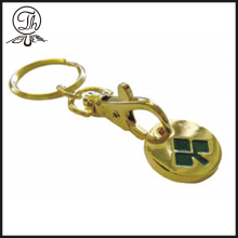 Gold trolley token coin metal keyrings wholesale