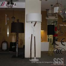 Antikes Hotel dekorative hölzerne große stehende Stehlampe