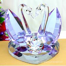Cisne de cristal roxo para presentes de casamento