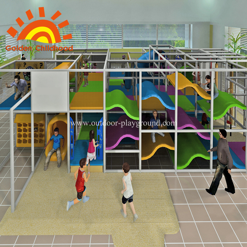 Indoor children large game pipeline slide playground