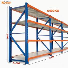 Industrial storage heavy duty steel warehouse rack with box