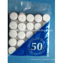 Velas de Tealight branco sem fumaça de cera de parafina branco de alta qualidade