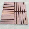 Decking de la teca de madera sólida al aire libre del proveedor de China de los productos de la demanda al por mayor con la base plástica