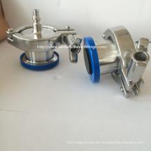 """4 """"316L Acero inoxidable válvula de retención de soplado de aire sanitario Nipple Connect"""