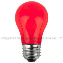 A15 E26 / E27 Lámpara incandescente de revestimiento de color