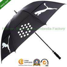 Manual Open Double Canopies Windproof Golf Umbrella (GOL0027FDA)