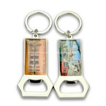 Llavero abrebotellas de metal personalizado para regalos de promoción
