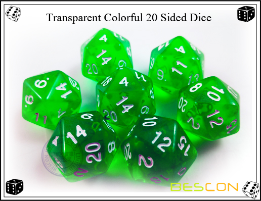 Transparent Colorful 20 Sided Dice-4