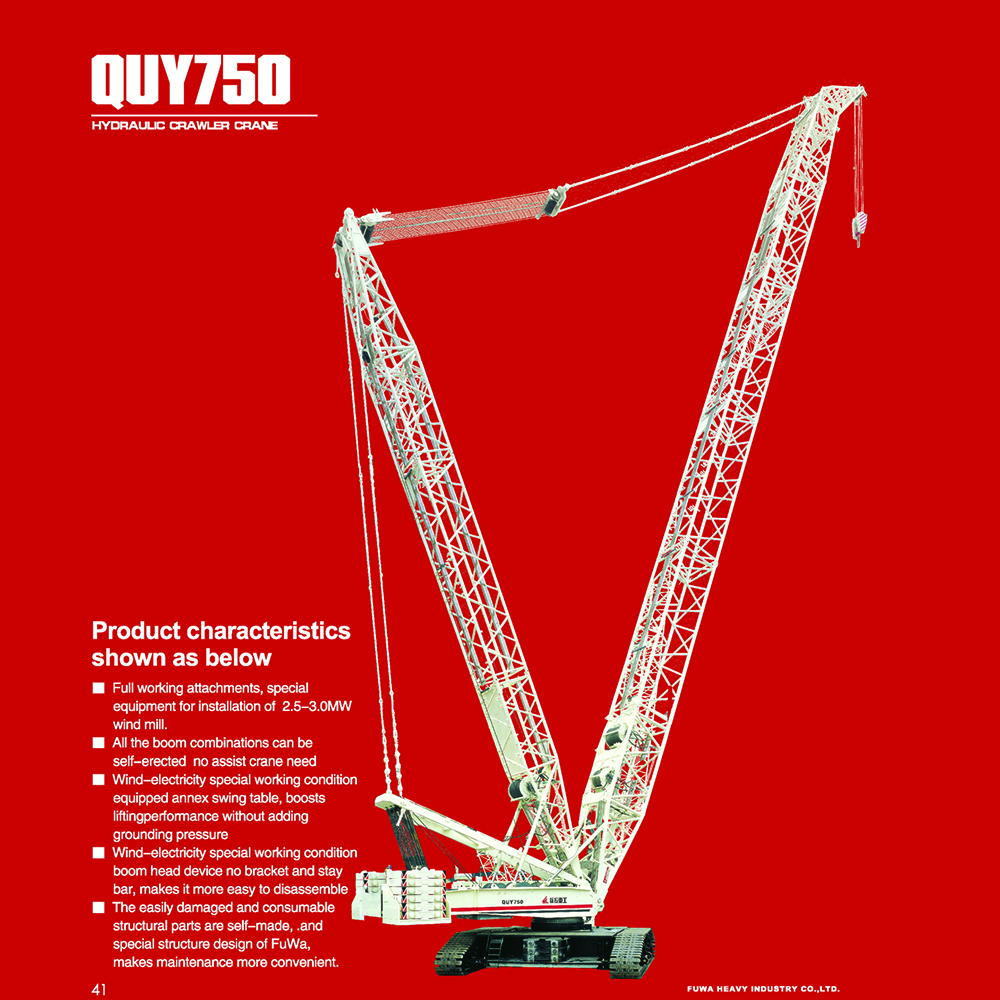 Crawler Crane with Luffing Jib