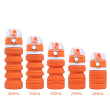 Customized gym outdoor BPA-free Botella Plegable 400ml foldable silicone cup for easy carrying and light water bottle