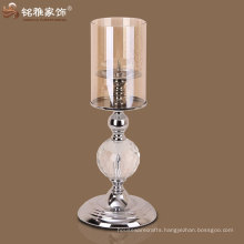 Xmas decor facotory supply high quality metal and glass candle holder