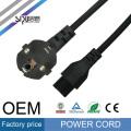 Cordón de alimentación del estilo de la UE de alta velocidad de SIPU para el cable de la computadora del alambre eléctrico de la CA del cable de la alimentación por mayor