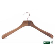 Superb Natural Closet Usage Anti-Slip Твердая деревянная вешалка для пальто
