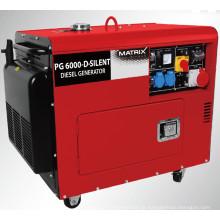 Gerador diesel silencioso refrigerado a ar do certificado do GS trifásico (BN5800DSE-3)