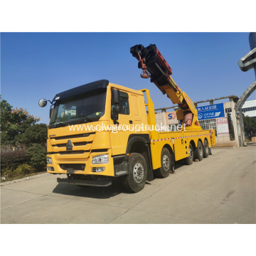 HOWO rear 3 axles folding arm crane