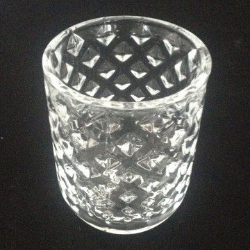 Glass Diamond Cylinder Votive